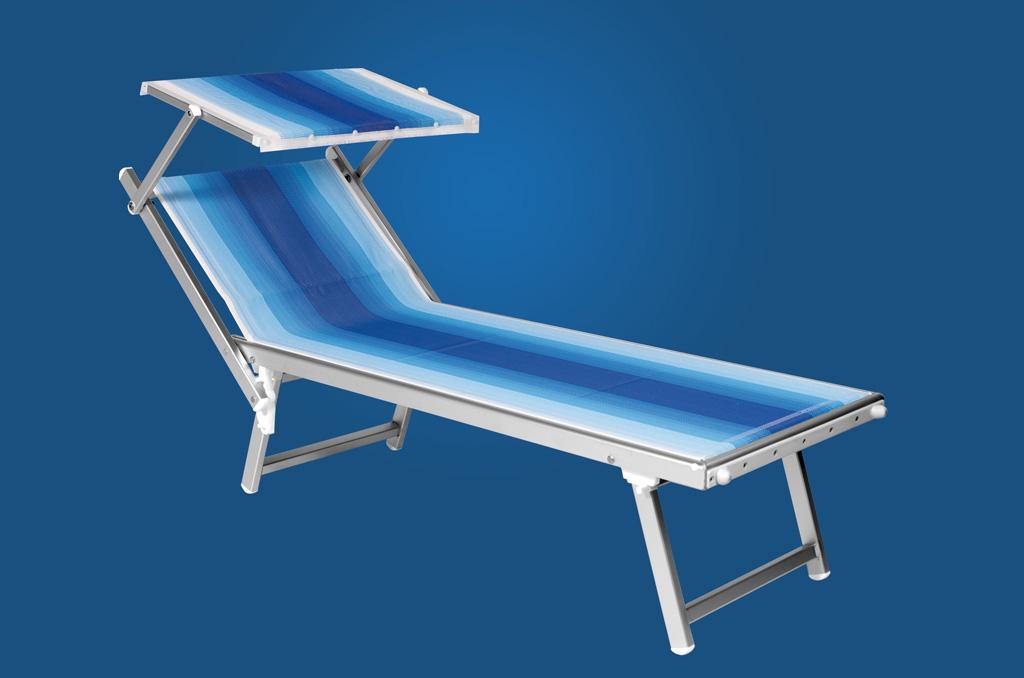 Sun beds in anodized aluminium
