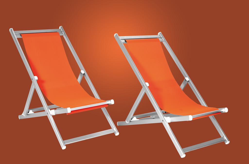 Deckchairs in anodized aluminium