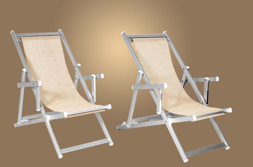 Sedie A Sdraio Per Spiaggia.Sdrai In Alluminio Bizeta Alluminio Srl Lettini Sdrai E Poltrone